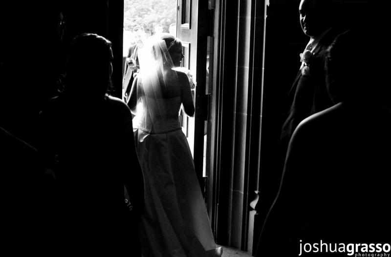 Atlanta wedding photographer by gwinnett wedding photographer joshua grasso. Black and white photo of bride liz cianfirini