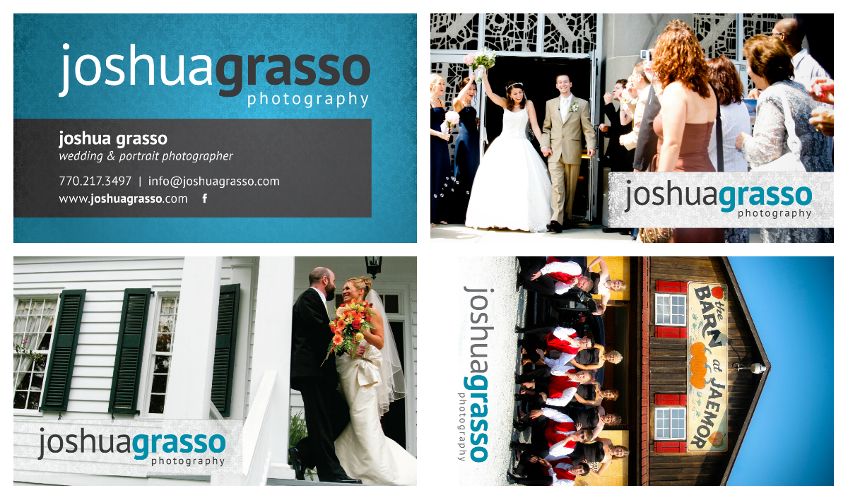 New business cards gwinnett wedding photography joshua grasso leave colourmoves