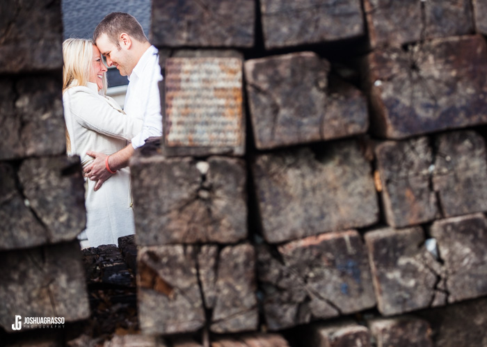 main street buford engagement session joshua grasso phtoography railroad tracks photo