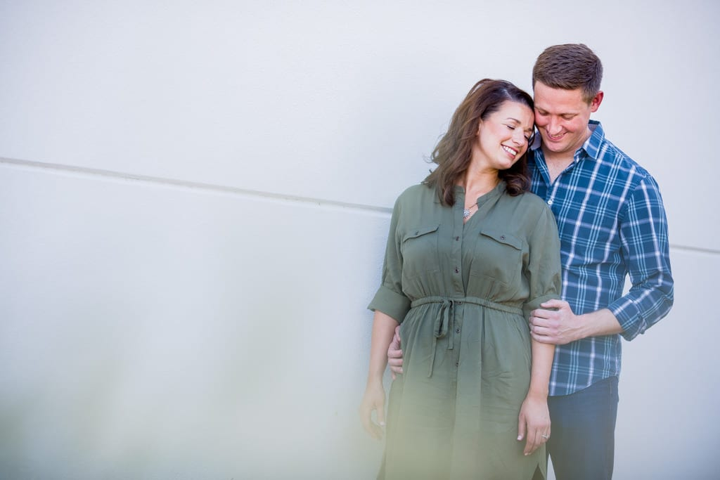 An engagement portrait at west midtown provisions district in atlanta.