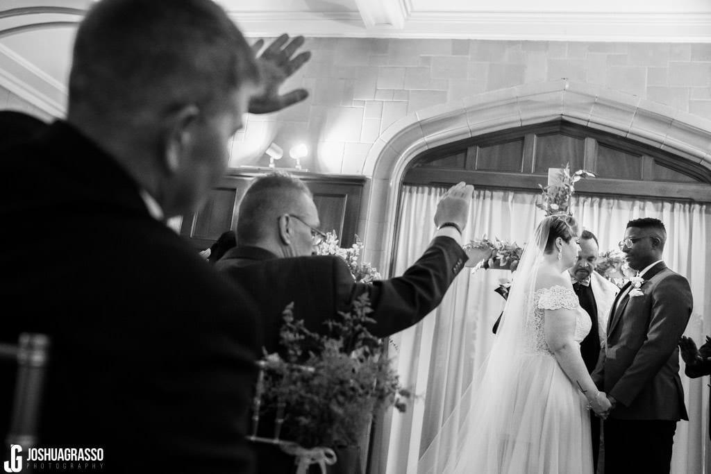 Bride and groom callanwolde fine arts center ceremony