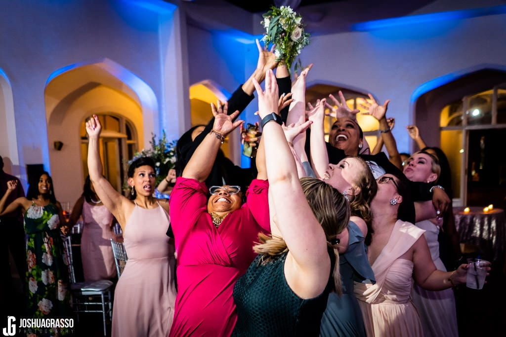 callanwolde atrium wedding reception bouqet