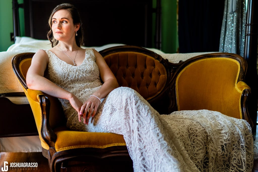 Howard House Atlanta Wedding bride portrait