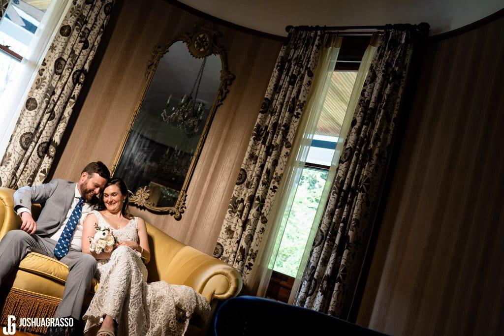Howard House Atlanta Wedding Bride and groom indoor portrait