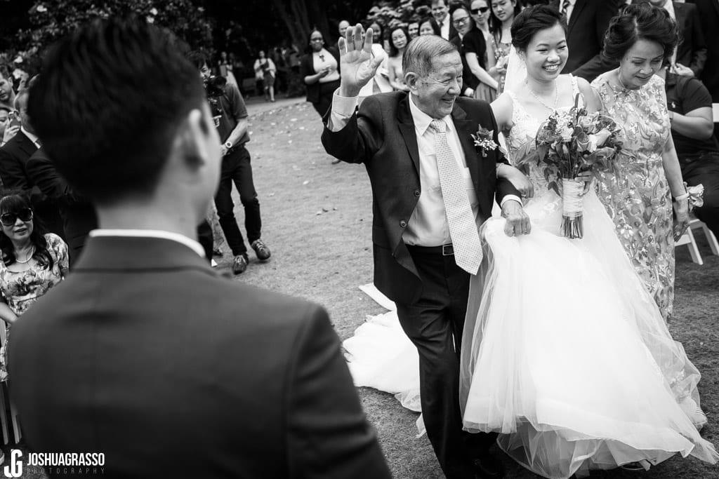 Atlanta botanical gardens wedding ceremony