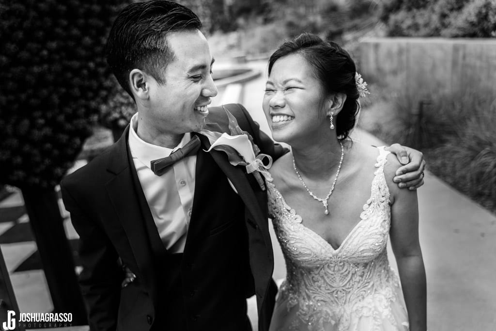 Atlanta botanical gardens wedding portrait bride and groom