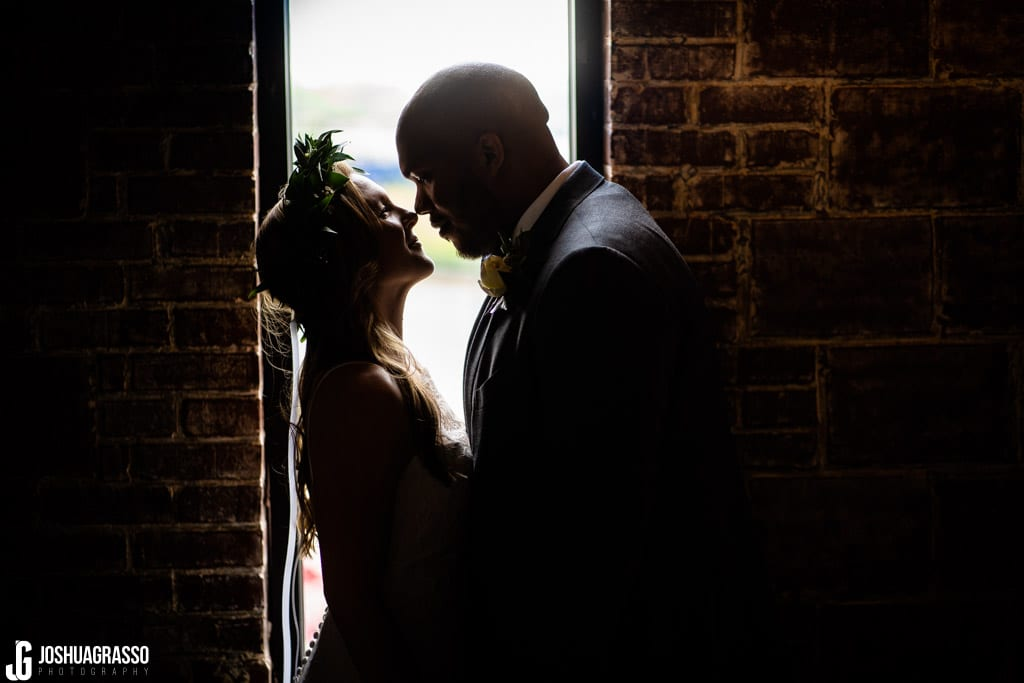 bride and groom portrait at upstairs atlanta