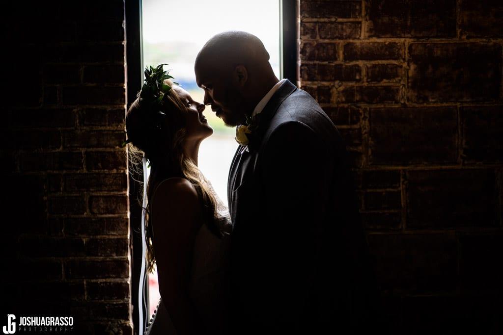 bride and groom portrait at upstairs atlanta