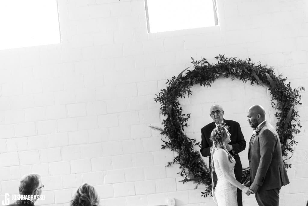 wedding ceremony at upstairs atlanta