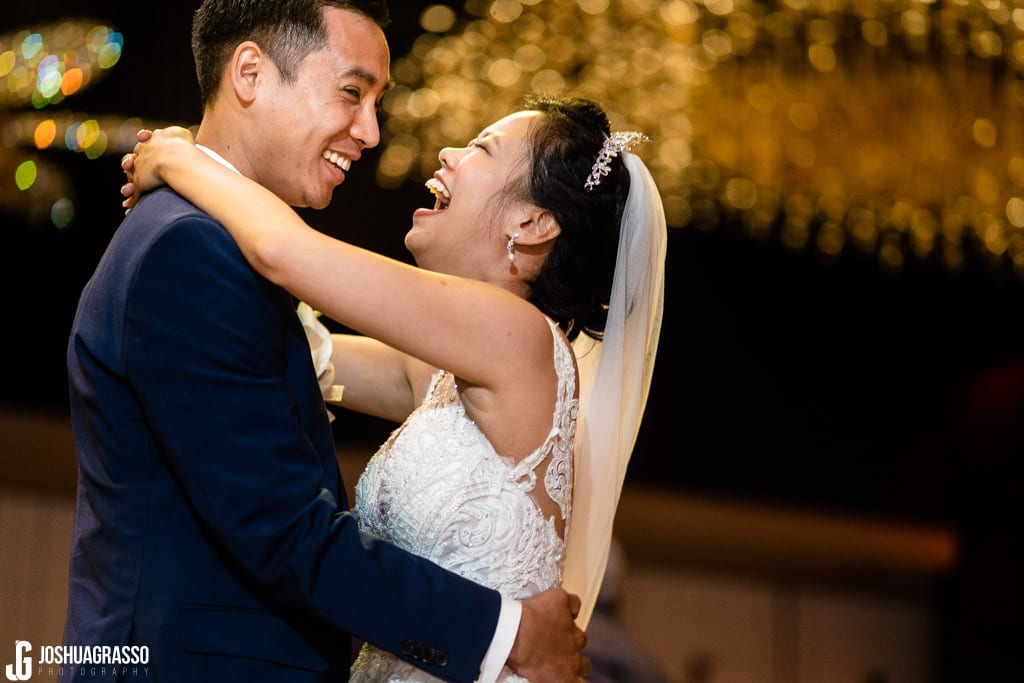 Bride and Groom first dance at royal china wedding reception