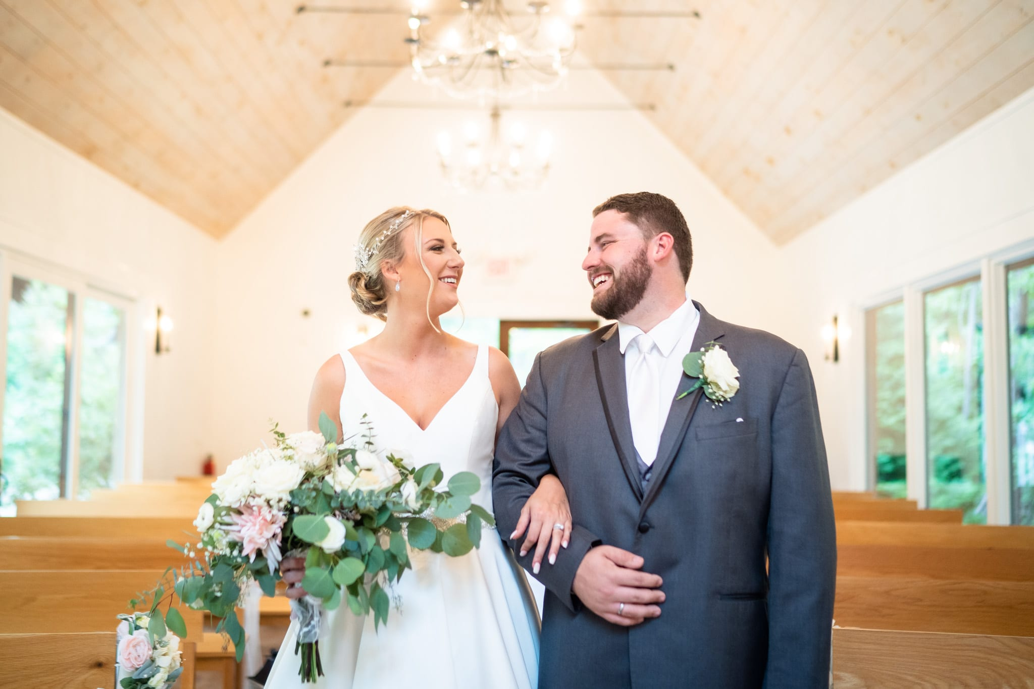Juliette Chapel Wedding Bride & Groom Portrait