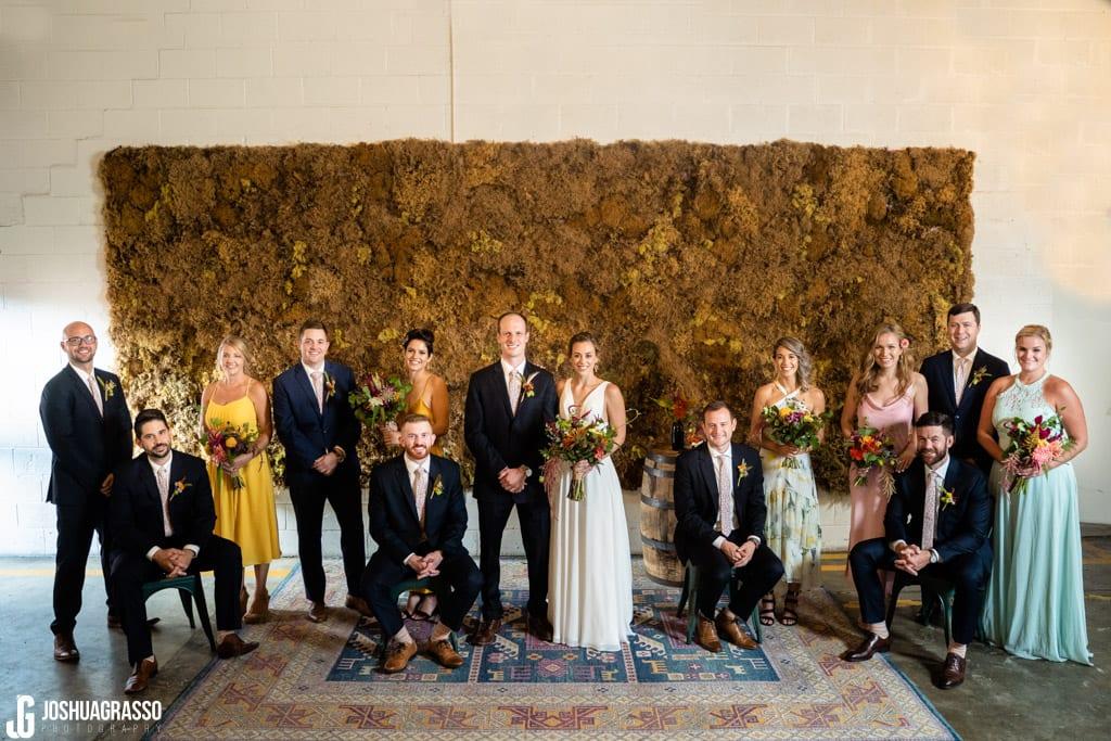Bridal party at Monday Night Garage Wedding