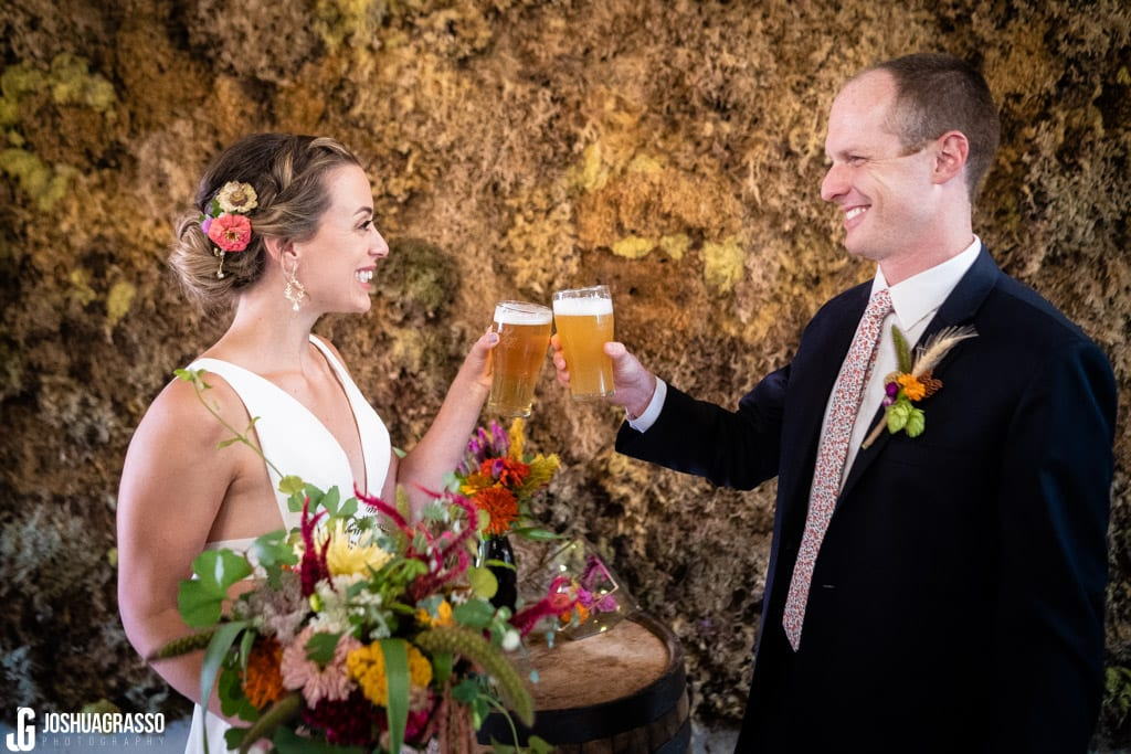 Cheers with monday night beer Monday Night Garage Wedding