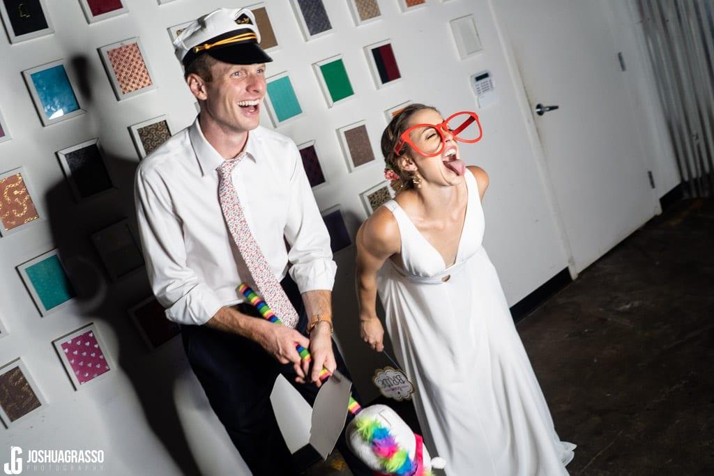 Club rett photobooth bride and groom at wedding