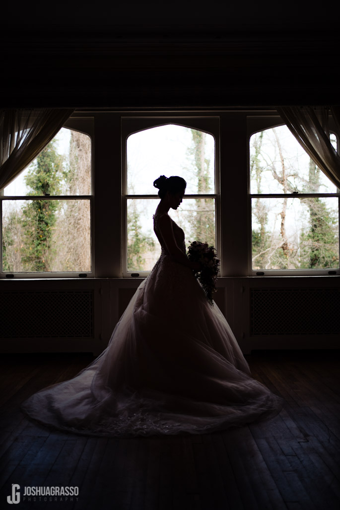Wedding portrait of Bride at callanwolde fine arts center.
