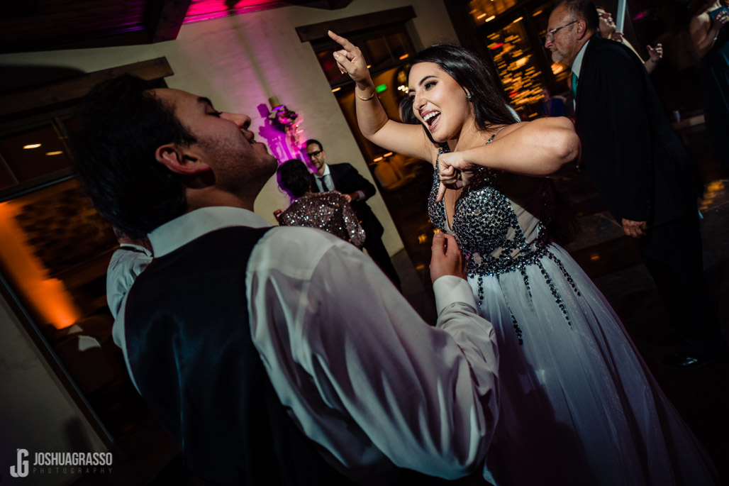 Bride and groom dancing the night away at montaluce winery wedding venue.