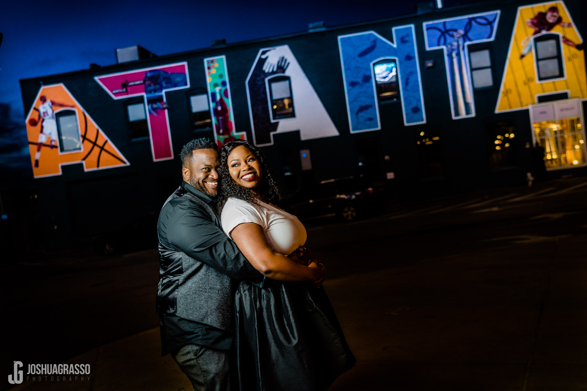 Atlanta best engagement session images