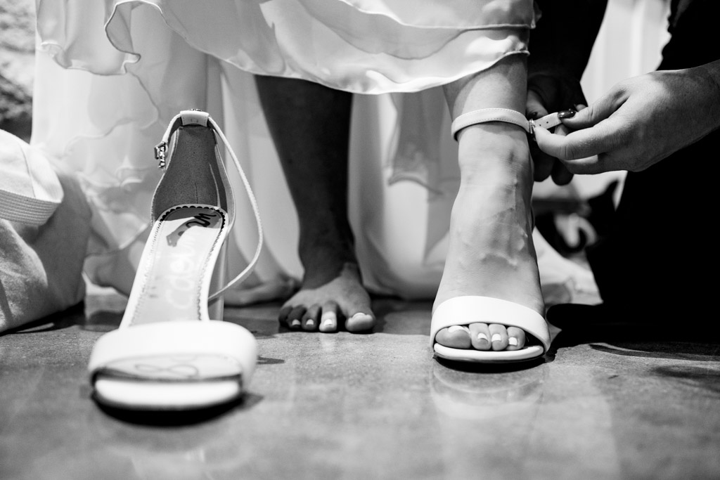 Bride getting ready for wedding at Portraits of Bride at Greystone Piedmont Park.