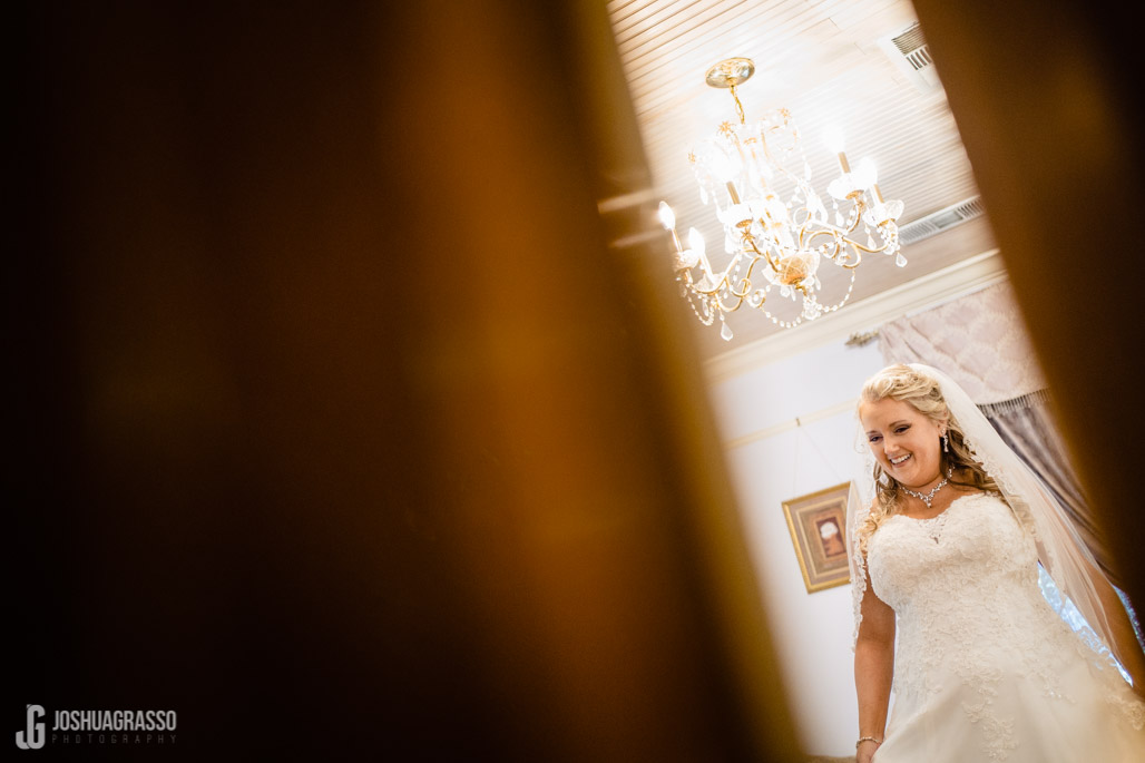 bride getting ready at the carl house wedding