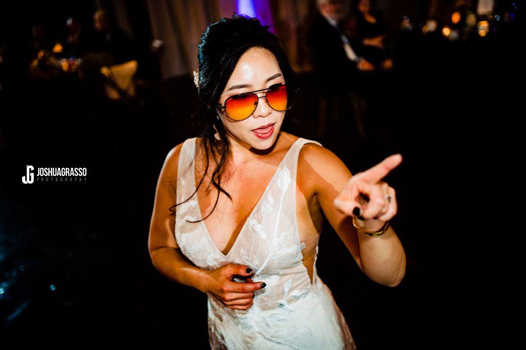 Bride dancing at king plow reception