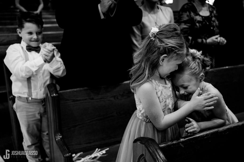 cute wedding ceremony moment