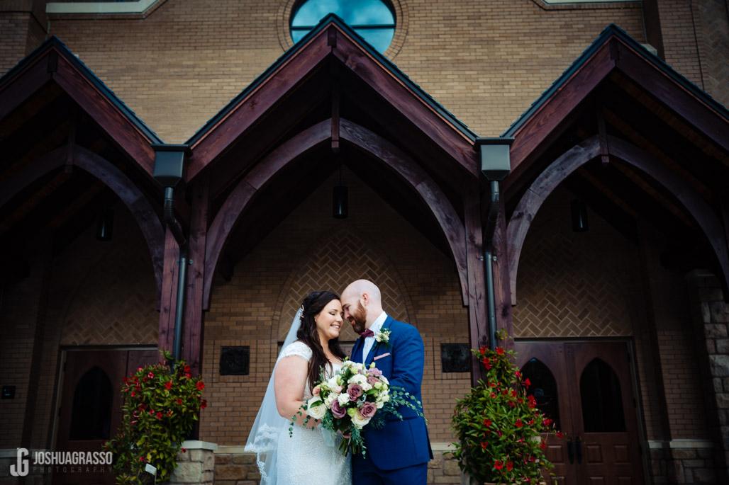 st brendans church bride and groom wedding portrait