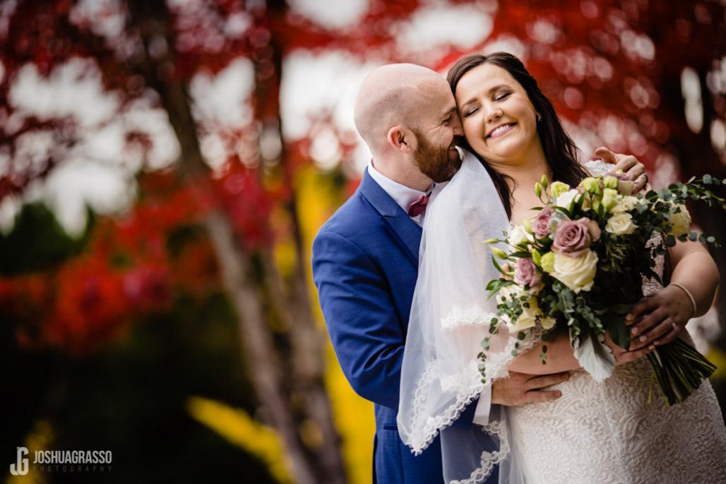 atlanta fall color wedding portrait