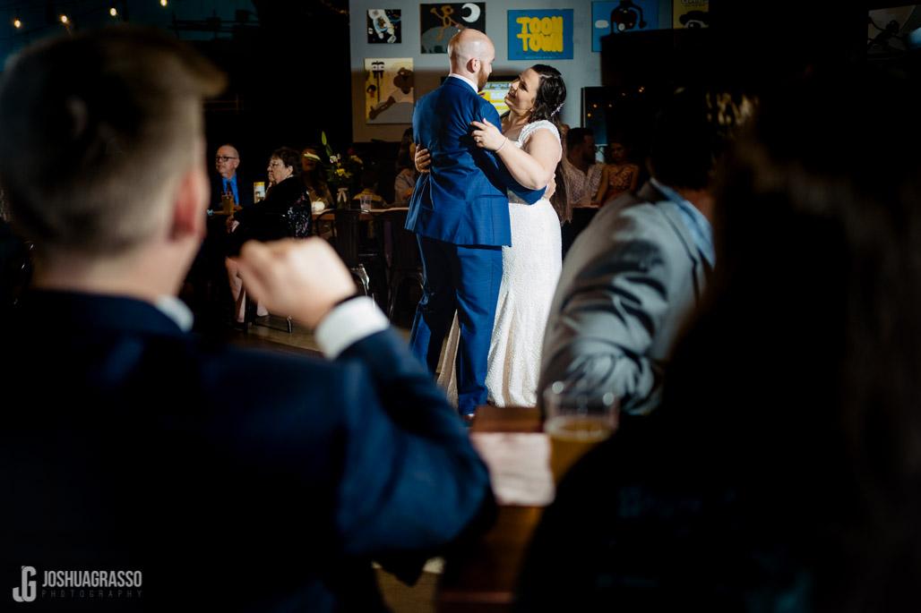 pontoon brewery wedding reception