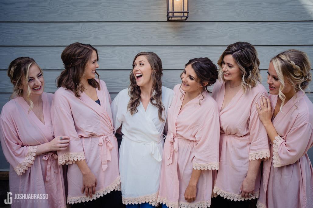 Yonah mountain wedding bride and bridesmaids