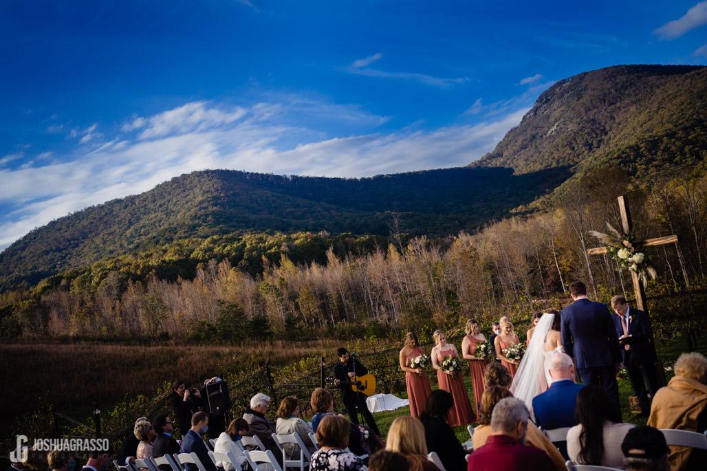 yonah mountian wedding ceremony