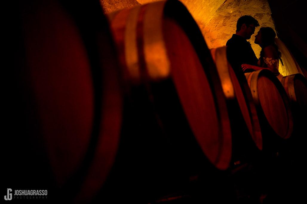 Yonah mountain wedding wine cave portrait