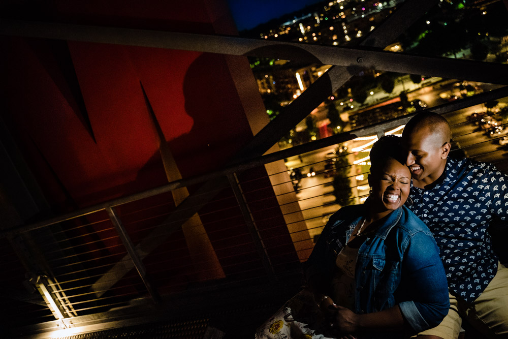 best nightime engagement session