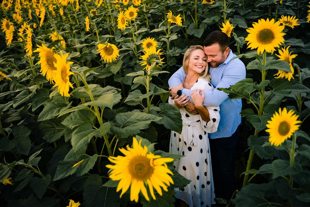 sunflower farm best engagement session of 2020
