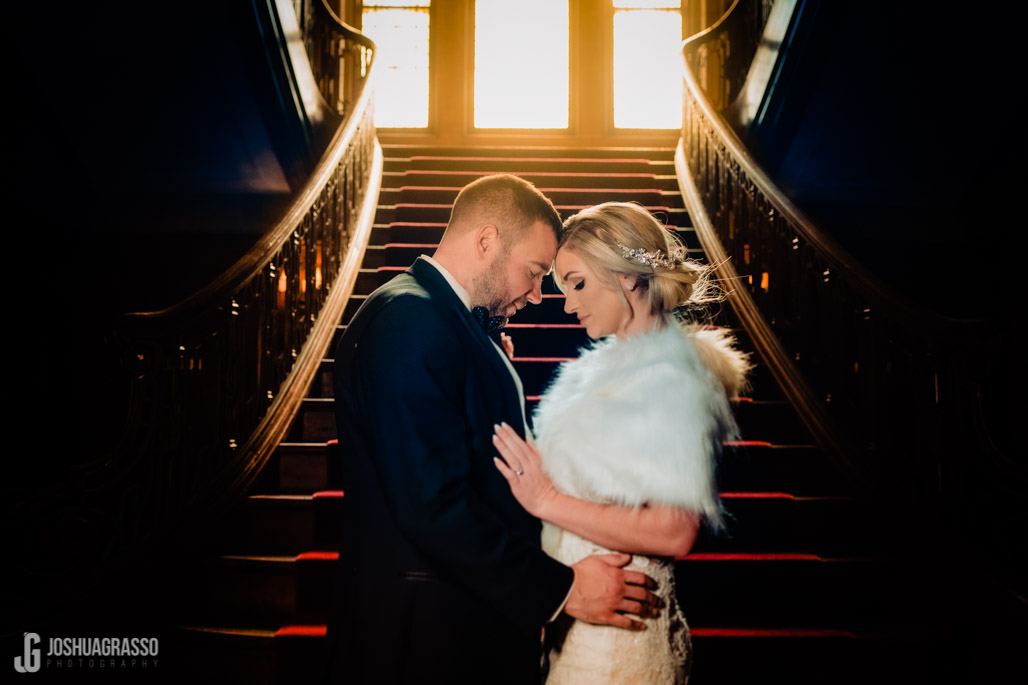 callanwolde stairs wedding portrait